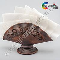 Глиняная салфетница ручной работы
