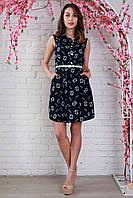 Ультрамодное летнее платье рубашечного покроя с оригинальным рисунком