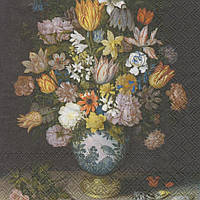 Декупажная салфетка Ваза с цветами 5768