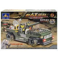 Конструктор Brick Военная машина на радиоуправлении 141 дет. 86001
