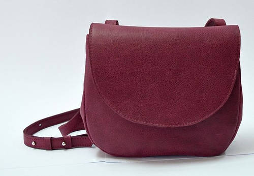 Креативная женская сумка из натуральной кожи GBAGS B.0011 баклажан