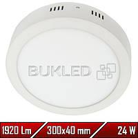 Светильник Led накладной, круглый, 220 В, 24 Вт,  Premium (50 000 ч)