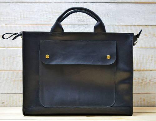 Стильная женская сумка-хэндбэг из натуральной кожи GBAGS B003 черный