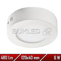 Светильник Led накладной, круглый, 220 В, 6 Вт,  Premium (50 000 ч)