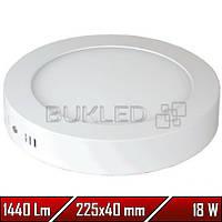 Светильник Led накладной, круглый, 220 В, 18 Вт,  Premium (50 000 ч)
