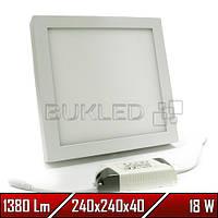 Светильник Led накладной, квадратный, 220 В, 12 Вт,  Premium (50 000 ч)