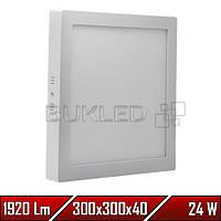 Светильник Led накладной, квадратный, 220 В, 24 Вт,  Premium (50 000 ч)