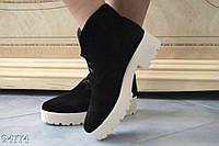 Стильные женские молодежные туфли ботинки замша