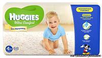Подгузники Huggies Ultra Comfort для мальчиков 4+ (10-16кг) 68шт.