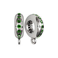 Бусина серебряная Шарм Кольцо с Камнями 610050