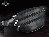 Мужская барсетка,сумка на пояс натуральная кожа CAVALDI