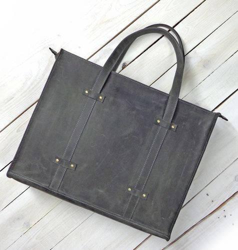 Замечательная женская сумка из натуральной кожи GBAGS B013 серый