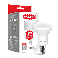 Лампа светодиодная MAXUS (1-LED-553) R50 5W 3000K 220V E14