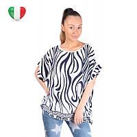 Модная женская футболка My Luna 8337 белая с пайтеками