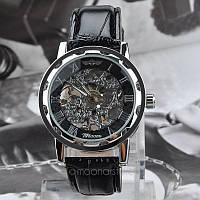 Механические часы Winner Skeleton Черные