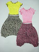 Комплект для девочки, для подростка, блузка и штаны, вискоза.