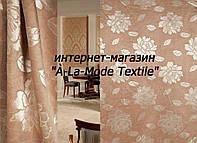 """Блэкаут двусторонний """"Роскошный пион"""" бежевая ш. 150 см"""
