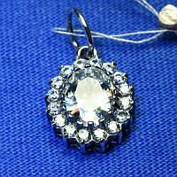 Женский кулон из серебра с большим камнем 3885