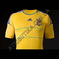 Детская футболка Adidas с символикой национальной сборной Украины по футболу(желтая)