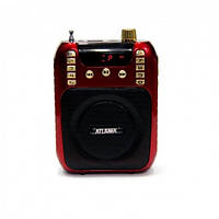Портативная колонка ATLANFA AT-R30 с USB+SD+дисплей+громкоговоритель
