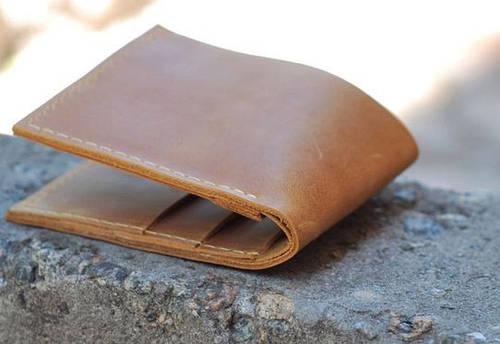 Привлекательное портмоне из натуральной кожи GBAGS W022 рыжий