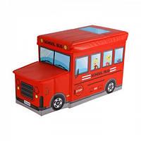 Детский пуф Автобус 55*26*31см, (красный)