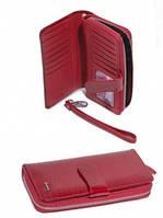 45 Red Кошелёк-клатч женский кожаный лак серый