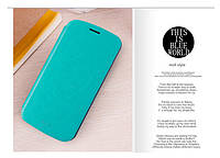 Чехол-книжка Mofi для телефона Samsung i9118/i9060/i9082  голубой blue
