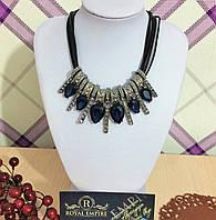 """Ожерелье """"Терра"""" с синими камнями."""