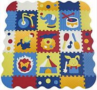 Детский игровой коврик-пазл «Удивительный цирк» с бортиком