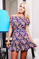 Красивое платье IR Букет  цвета: темносиний | бирюза | розовый | голубой