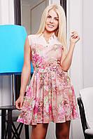 Нежное женское платье IR Весна цвета: бежевый | сирень