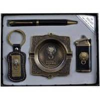 Подарочный набор зажигалка.ручка.брелок.пепельница YJ6361,деловые подарки,подарочные наборы