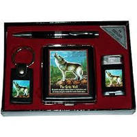 Подарочный набор ручка/брелок/зажигалка/портсигар YJ 6269,деловые подарки
