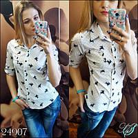 Стильная молодежная женская рубашка ЗО-поло