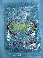 Бисер крупный (Китай) 450гр.голубой жемчужный непрозрачный BIS-beads-bk450-42 /06-1