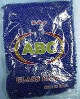 Бисер крупный (Китай) 450гр.темно-синий глянцевый непрозрачный BIS-beads-bk450-46 /06-1