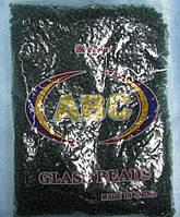 Бисер крупный (Китай) 450гр. болотно-зеленый темный прозрачный BIS-beads-bk450-49 /06-1