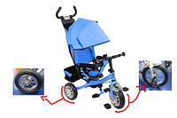 Велосипед трехколесный складной козырек, колеса со спицами