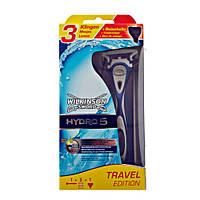Wilkinson Sword (Schick) HYDRO 5 Travel Edition (3 картиджа в комплекте) мужской станок для бритья