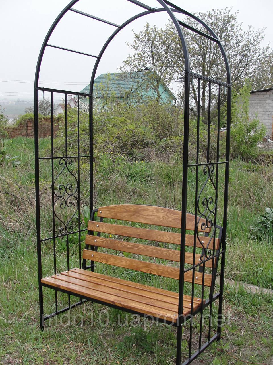 Садовая скамейка с аркой