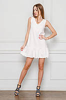Летнее мини платье белое свободного кроя