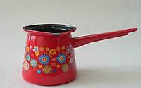 Турка на 0,7л Цветы на красном Metalac 169394