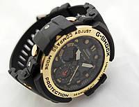 Часы  G-Shock - Gulfmaster Gold, стальной безель, стальной бокс, черные