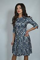 Оригинальное качественное женское платье из гипюра на атласе