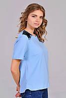 Блуза молодежная небесно голубого цвета