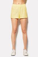 Стильные яркие шорты из жаккардового материала желтого цвета