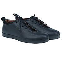 Мужские туфли в стиле casual от BRONI (синего цвета, на шнурках, удобные)