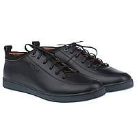 Черные кожаные туфли от BRONI (стильные, качественные, на шнурках)