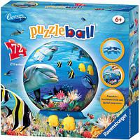Подводный мир, пластиковый 3D пазл, 72 элемента, Ravensburger (12128)
